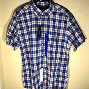 🆕 TOMMY HILFIGER Mens Short Sleeve Button Down